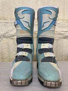 Thor Quadrant Motocross Boots - Womens 7 - Light Blue/White - Riding Boots