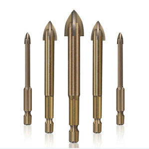 6Pcs Efficient Universal Drilling Tool 3-12mm Hexagonal Handle Reamers Tool UK