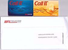 2 SCHEDE TELEFONICHE  USI SPECIALI CALL IT TELECOM + BUSTA SIGILLATA CON SCHEDA