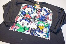 Vintage Disney And Friends Long Sleeve Shirt Mickey Mouse Goofy Donald Duck XL