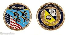 """NAVY BLUE ANGELS THE SKY IS NOT THE LIMIT 1.75"""" MILITARY CHALLENGE COIN"""