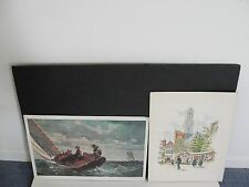 Breezing Up by Winslow Homer & Holland today, Zwolle-1950's Reproduction Prints.