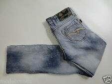 Stretchjeans CIPO & BAX Jeans Slim Leg 25 ca L30 bleached used Strass /G32