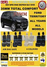Ford Territory All Years Super Dense Sheepskin Car Seat Covers Pr Abag Safe 35MM