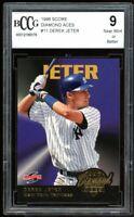 1996 Score Diamond Aces #11 Derek Jeter Card BGS BCCG 9 Near Mint+