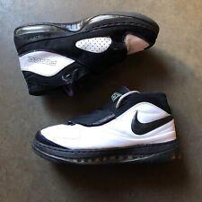 Men's 2007 Nike Air Force Stat One Amare Stoudemire White Black Purple Sz 11.5