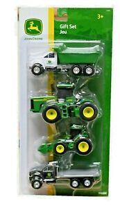NEW John Deere 4 Vehicle Gift Set Dump Truck Tractor Loader1/64 Scale TBEK37685