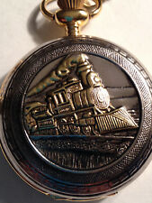 Gold Engineers Trainman Pocket Watch on Chain