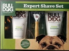 Bull Dog Expert Shave Set - Kit with Bamboo Razor, Shave Gel, Moisturizer Gel