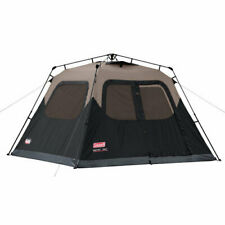 Black 6-Person Instant Cabin Tent All Season Outdoor Camping Shelter W/Carry Bag