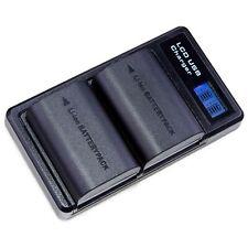 LUMOS 2x Akku + Dual Ladegerät für Canon EOS 5D II III IV 6D 7D LP-E6N Infochip