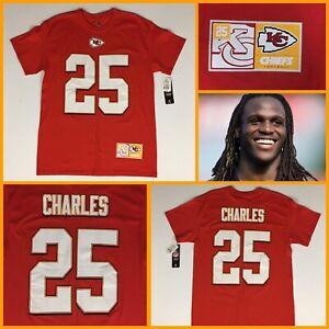 NWT Men's JAMAAL CHARLES Kansas City Chiefs Red Jersey-Style Tee-Shirt - Medium