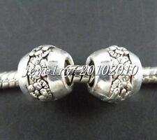10pcs Tibetan Silver Big Hole Spacer Beads  9x10mm zn25155-1