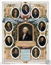 Distinguished MASONS of the Revolution George Washington Fine Art Print / Poster