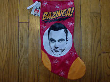 Bazinga The Big Bang Theory Sheldon  Stocking NEW WITH TAGS