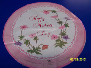 """Happy Mother's Day Floral Pink Flowers Party Decoration Foil 18"""" Mylar Balloon"""