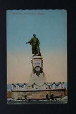 Monument to Lesseps (1805-1894), Port Said - Egypt Vintage Postcard.