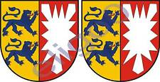 2x schleswig holstein GERMANY coat of arms stickers new