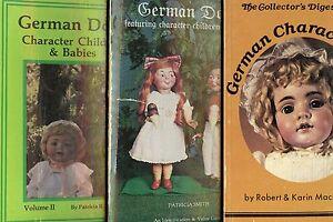 Antique German Character Children Baby Dolls Makers Marks / 3-Vol. Book Set