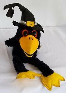 Dan Dee Collectors Choice Singing Crow Halloween Raven w/ Hat Works Sings