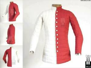 Medieval Only Gambeson Red&White King Men Classic Clothing