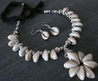 Sea Shell Ethnic Necklace Choker set Boho Gypsy Hippie Festival Fashion Jewelry