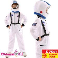 Boys Astronaut Costume Space Man NASA Suit Uniform Child Kids Girls Book Week