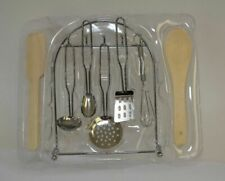 Children's 8 Pc Stainless Steel Kitchen Utensil Play Set ages 5+