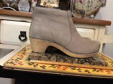 Dansko Nubuck Leather Ankle Boots - Maria Beige Women's EU 42 US 11.5-12