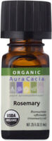 Rosemary Essential Oil Certified Organic by Aura Cacia, 0.25 oz