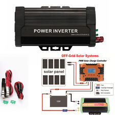 Solar Power Inverter 1000W Peak 12V DC To 110V AC Modified Sine Wave Converter