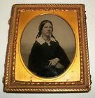 Antique 1/6th Plate Ambrotype Photo Lady Vintage Photograph