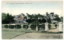 Orlando Florida FL- DR J. KING MANSION IN VIRGINIA HEIGHTS -Handcolored Postcard