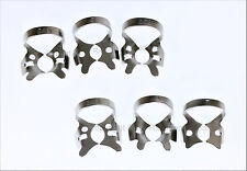 Rubber Dam MOLAR Clamps Set of 6 WINGED - 7, 201, 202, 4, 3 and 205 Dental NEW
