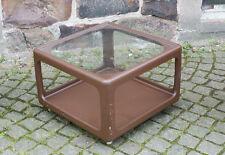 kultiger brauner Würfel Tisch aus Plastik DDR 70er Jahre passend zum Sitzei