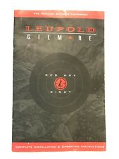 Leupold / Gilmore Red Dot Sight Instruction Book