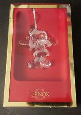 Lenox Disney Showcase Collection Mickey Mouse Santa Crystal Ornament