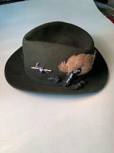 Vintage Tyrolean Man's Hat- w/Pins - Made in Garmisch - Early 1960's