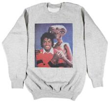 Michael Jackson & E.T Grey Sweatshirt Size S-XXL Supreme Vintage Retro Thriller