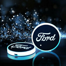2PCS LED Car Cup Holder Pad Mats Car Auto Atmosphere Lights Colorful For Ford