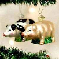 CHRISTMAS PIG ORNAMENT VARIATION. OLD WORLD CHRISTMAS BEAUTIFUL GLASS