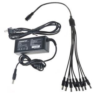 12V AC Adapter + 1 to 8 Splitter For SDR-B75303 SDR-B75303N SDR-75303N2T Power