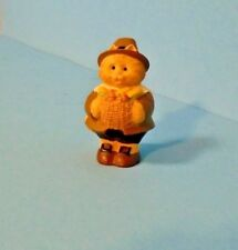1995 Hallmark Thanksgiving Merry Miniature Pilgrim Cameron With Basket