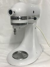 KitchenAid Stand Mixer K45SSWH, White - Used - Works Great! Missing Parts!