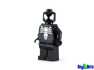 SPIDERMAN Black Suit Custom Printed Minifigure! Marvel