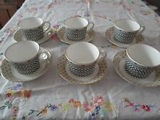 Wedgwood Samurai 6 Teacups with 6 Saucers. Very Good Condition.