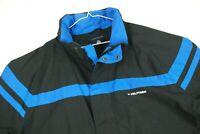 Tommy Hilfiger Full Zip Striped Spellout Sailing Jacket Black Blue Mens XL