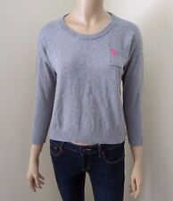Abercrombie Womens Cropped Sweater Size Small Top Shirt Gray Sweatshirt