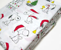Pottery Barn Kids Peanuts Snoopy Wood Stock Organic Cotton Twin Sheet Set New