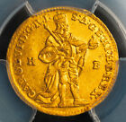 1738, Kingdom of Hungary, Charles VI. Gold Ducat Coin. Kremnitz! PCGS AU-55!